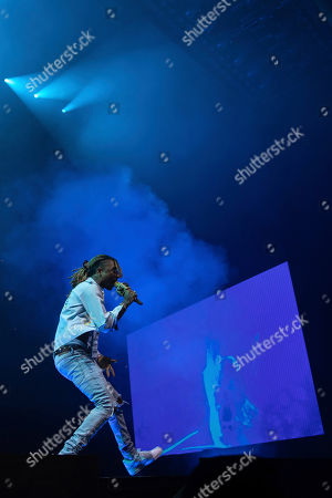 Swae Lee performs onstage at the Capitol One arena, in Washington