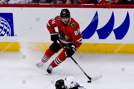 Editorial photo of Jets Blackhawks Hockey, Chicago, USA - 12 Oct 2019