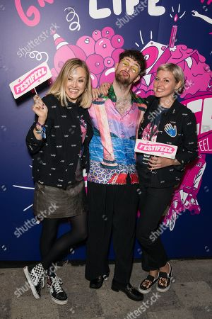 Stock Picture of Fearne Cotton, Tom Grennan and Kristin Hallenga
