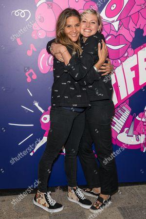 Stock Photo of Amanda Byram and Kristin Hallenga