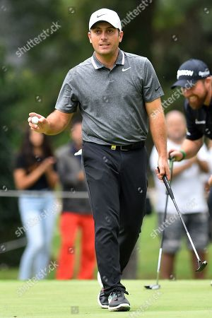 Stock Image of Francesco Molinari during the first round