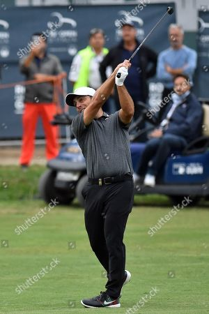 Francesco Molinari during the first round