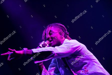 Stock Image of Swae Lee performs on stage at the Capitol One arena, in Washington