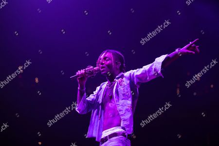 Stock Photo of Swae Lee performs on stage at the Capitol One arena, in Washington