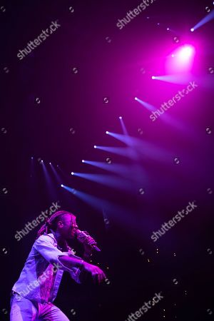 Swae Lee performs on stage at the Capitol One arena, in Washington