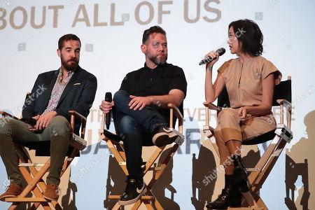 Editor Nat Sanders, Producer Asher Goldstein and Casting Director Carmen Cuba