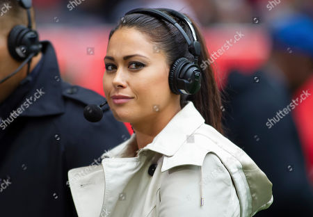 Olympic Gold medalist Sam Quek during the NFL game between the Carolina Panthers and Tampa Bay Buccaneers