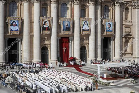 Editorial image of Canonization Mass of five new Saints Five new Saints canonized at the Vatican, Vatican City, Vatican City State (Holy See) - 13 Oct 2019