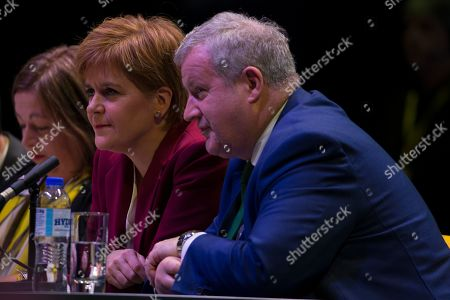 Kirsten Oswald, SNP Business Convener, Nicola Sturgeon, First Minister of Scotland and Leader of the Scottish National Party (SNP), and Ian Blackford, SNP Westminster leader