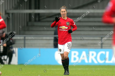 Jane Ross of Manchester United Women celebrates scoring the third goal during Tottenham Hotspur Women vs Manchester United Women, Barclays FA Women's Super League Football at the Hive Stadium on 13th October 2019