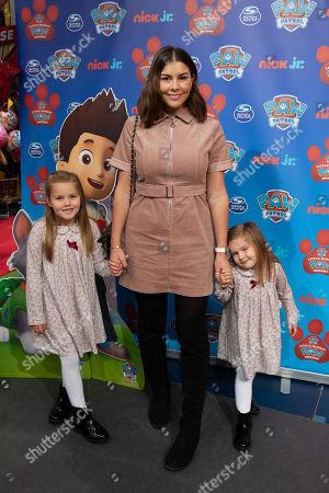 Stock Image of Imogen Thomas, Ariana Siena Horsley and Siera Aleira Horsley