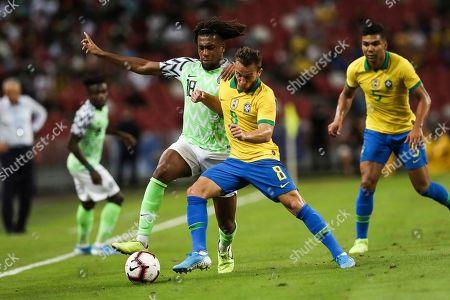 Editorial photo of Brazil Nigeria Soccer, Singapore, Singapore - 13 Oct 2019