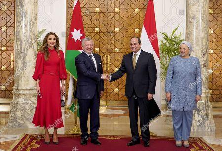 Editorial photo of Jordanian Royals visit to Cairo, Egypt - 10 Oct 2019