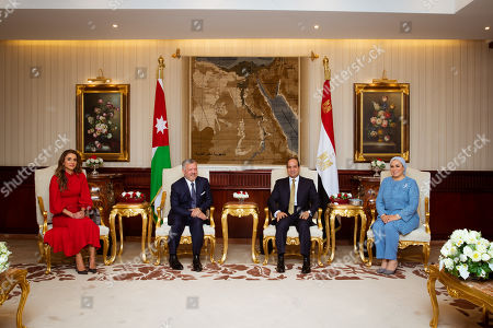 Editorial photo of Jordanian Royals visit to Cairo, Egypt - 10 Oct 2019
