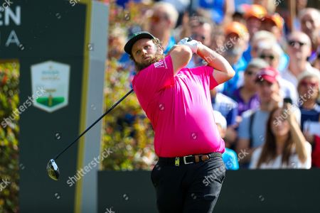 Stock Picture of English Andrew Johnston in action during the final round of the Golf Italian Open 2019, Rome, Italy, 13 October 2019.