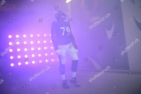 Baltimore Ravens offensive tackle Ronnie Stanley waits to be introduced onto the field prior to an NFL football game against the Cincinnati Bengals, in Baltimore