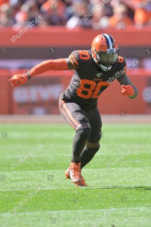 Cleveland Browns wide receiver Jarvis Landry (80) runs a route during an NFL football game against the Seattle Seahawks, in Cleveland. The Seahawks won 32-28