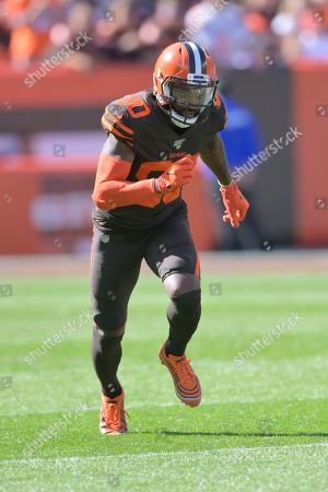 Stock Image of Cleveland Browns wide receiver Jarvis Landry (80) runs a route during an NFL football game against the Seattle Seahawks, in Cleveland. The Seahawks won 32-28