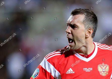 Editorial picture of Russia Euro 2020 Soccer, Nicosia, Cyprus - 13 Oct 2019