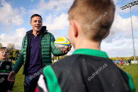 Tommy Bowe during a meet and greet with players