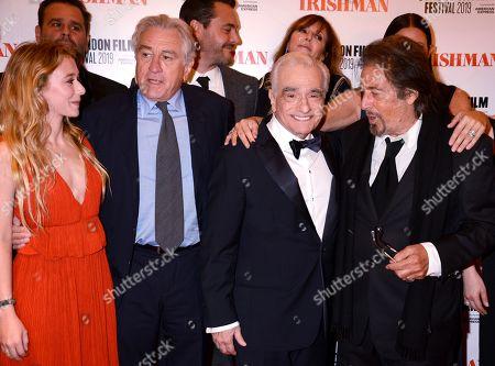 India Ennenga, Robert De Niro, Martin Scorsese and Al Pacino