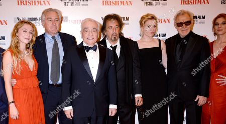 India Ennenga, Robert De Niro, Martin Scorsese, Al Pacino, Anna Paquin, Harvey Keitel and Welker White