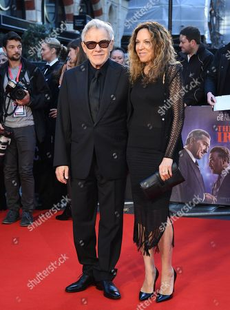 Stock Image of Harvey Keitel (L) and wife Daphna Kastner arrive for the premiere of the movie 'The Irishman' at the 2019 BFI London Film Festival, in London, Britain, 13 October 2019. The British Film Institute festival runs from 02 to 13 October.