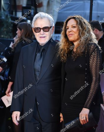 Harvey Keitel (L) and wife Daphna Kastner arrive for the premiere of the movie 'The Irishman' at the 2019 BFI London Film Festival, in London, Britain, 13 October 2019. The British Film Institute festival runs from 02 to 13 October.