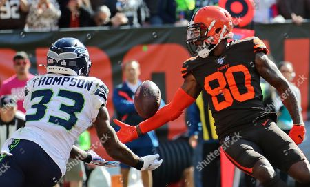 Editorial picture of Seahawks Browns Football, Cleveland, USA - 13 Oct 2019