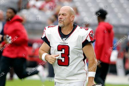 Stock Photo of Atlanta Falcons kicker Matt Bryant (3) during an NFL football game against the Arizona Cardinals, in Glendale, Ariz