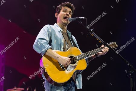 Editorial image of John Mayer in concert at the O2 Arena in London, UK - 13 Oct 2019