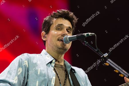 Editorial photo of John Mayer in concert at the O2 Arena in London, UK - 13 Oct 2019