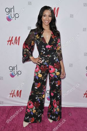 Stock Image of Corinne Foxx attends the 2nd Annual Girl Up Girl Hero Awards at the Beverly Wilshire Hotel, in Beverly Hills, Calif