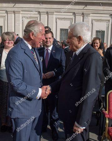 Prince Charles the the Italian President Sergio Matterella