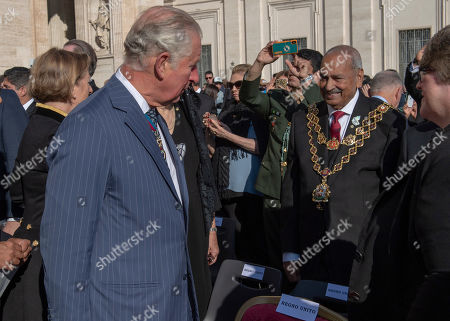 Prince Charles with the Lord Mayor of Birmingham Councillor Mohammed Azim