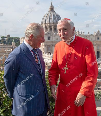 Stock Image of Prince Charles and Cardinal Vincent Nicholls
