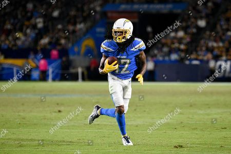 Los Angeles Chargers wide receiver Travis Benjamin in action during the second half of an NFL football game against the Pittsburgh Steelers in Carson, Calif
