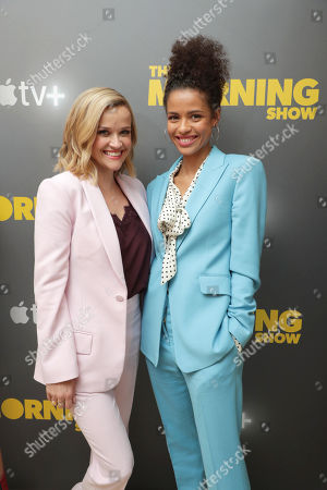 EXCLUSIVE - Reese Witherspoon and Gugu Mbatha-Raw at Apple's press day for 'The Morning Show' a new drama premiering on Apple TV+, the first all-original video subscription service, launching November 1 on the Apple TV app.