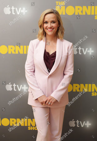 EXCLUSIVE - Reese Witherspoon at Apple's press day for 'The Morning Show' a new drama premiering on Apple TV+, the first all-original video subscription service, launching November 1 on the Apple TV app.