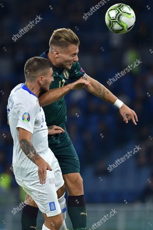 Editorial picture of Italy v Greece, UEFA Euro 2020 Qualifying Group J, Football, Stadio Olimpico, Rome, Italy - 12 Oct 2019
