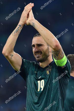 Leonardo Bonucci celebrates at the end game