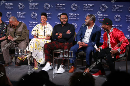 Laurence Fishburne, Tracee Ellis Ross, Anthony Anderson, Courtney Lilly and Charlamagne The God