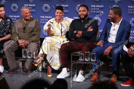 Laurence Fishburne, Tracee Ellis Ross, Anthony Anderson and Courtney Lilly