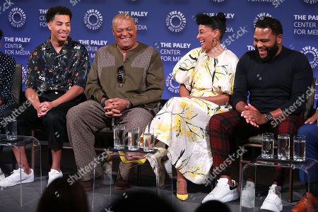 Marcus Scribner, Laurence Fishburne, Tracee Ellis Ross and Anthony Anderson