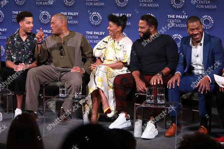 Marcus Scribner, Laurence Fishburne, Tracee Ellis Ross, Anthony Anderson and Courtney Lilly