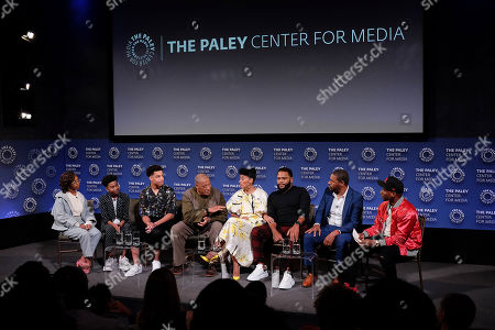 Marsai Martin, Miles Brown, Marcus Scribner, Laurence Fishburne, Tracee Ellis Ross, Anthony Anderson, Courtney Lilly and Charlamagne The God