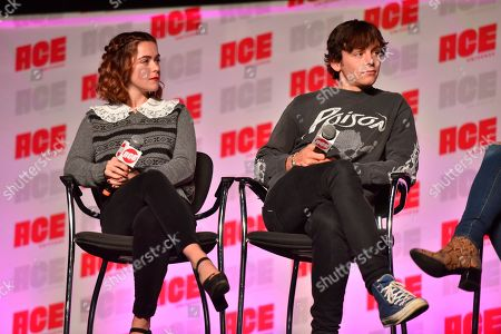 Kiernan Shipka, Ross Lynch. Kiernan Shipka, left, and Ross Lynch participate during a Q&A panel on day three at the Ace Comic-Con at the Donald E Stephens Convention Center, in Rosemont, Ill