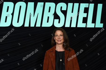 "Robin Weigert poses at a Los Angeles special screening of ""Bombshell"" at the Pacific Design Center on"