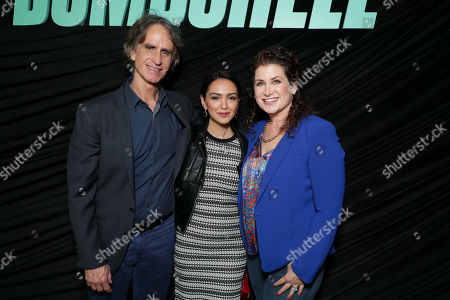 Stock Photo of Jay Roach, Director/Producer, Nazanin Boniadi and Michelle Graham attend Lionsgate's BOMBSHELL special screening at the Pacific Design Center in West Hollywood, CA