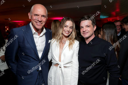 Joe Drake, Chairman, Lionsgate Motion Picture Group, Margot Robbie and Damon Wolf, President of Worldwide Marketing, Lionsgate Motion Picture Group, attend LionsgateÕs BOMBSHELL special screening at the Pacific Design Center in West Hollywood, CA